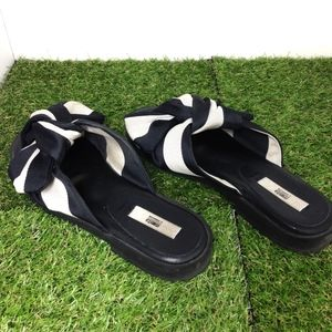 198264cded02 Miista Shoes - MIISTA Valerie Black White Bow Slide Sandals 9